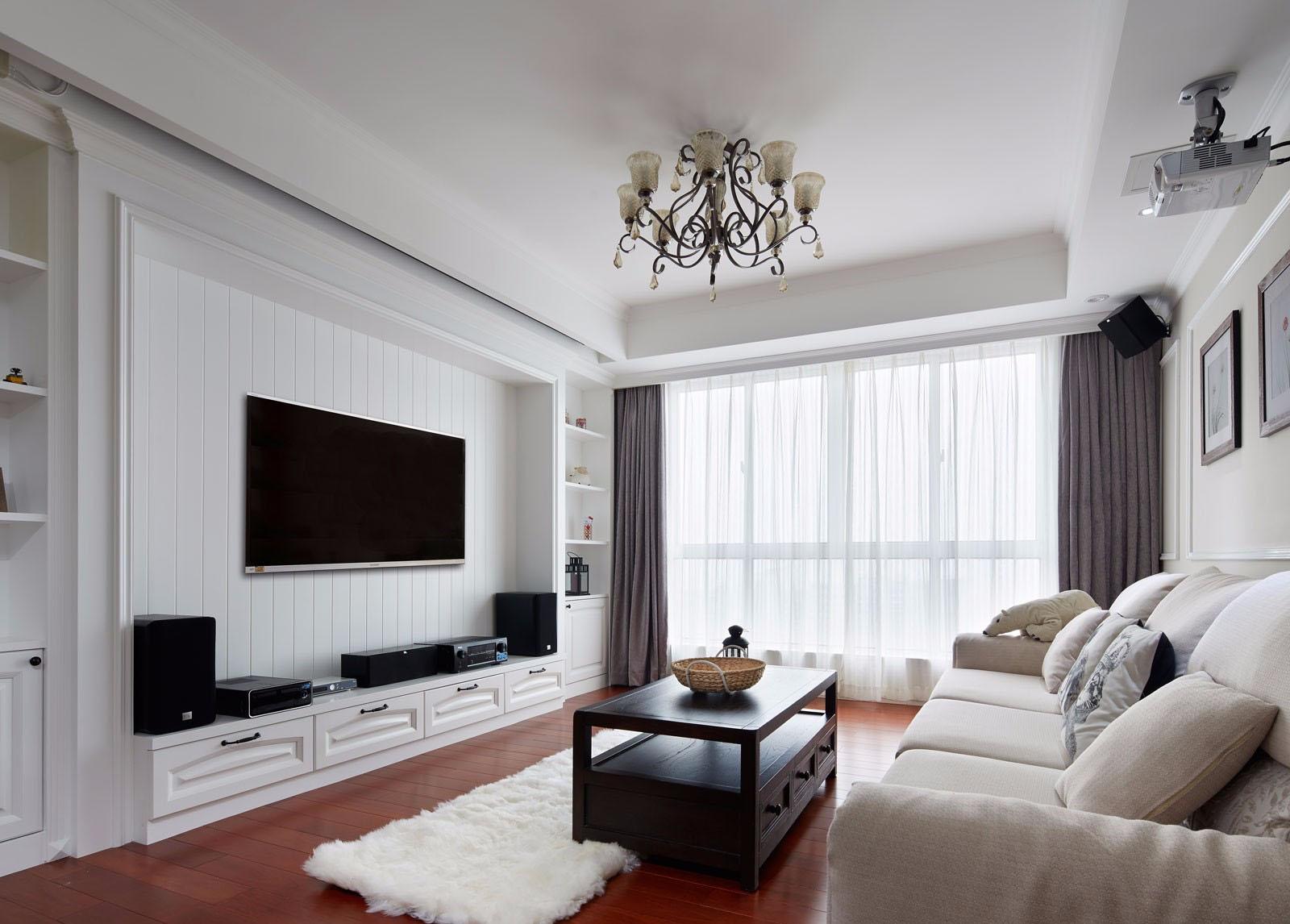 简美风格三居室客厅装修设计图