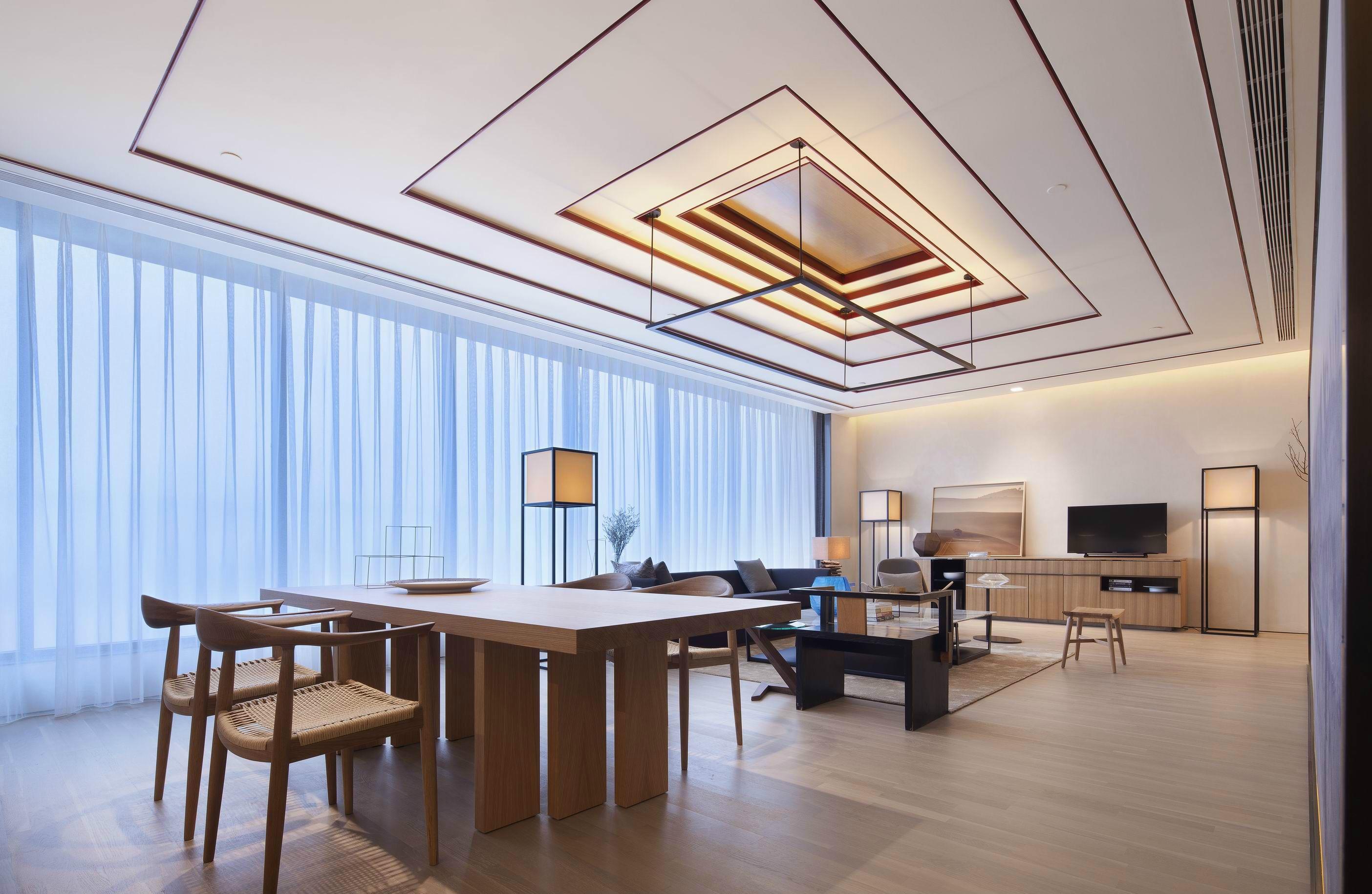 简约新中式风格餐厅装修效果图