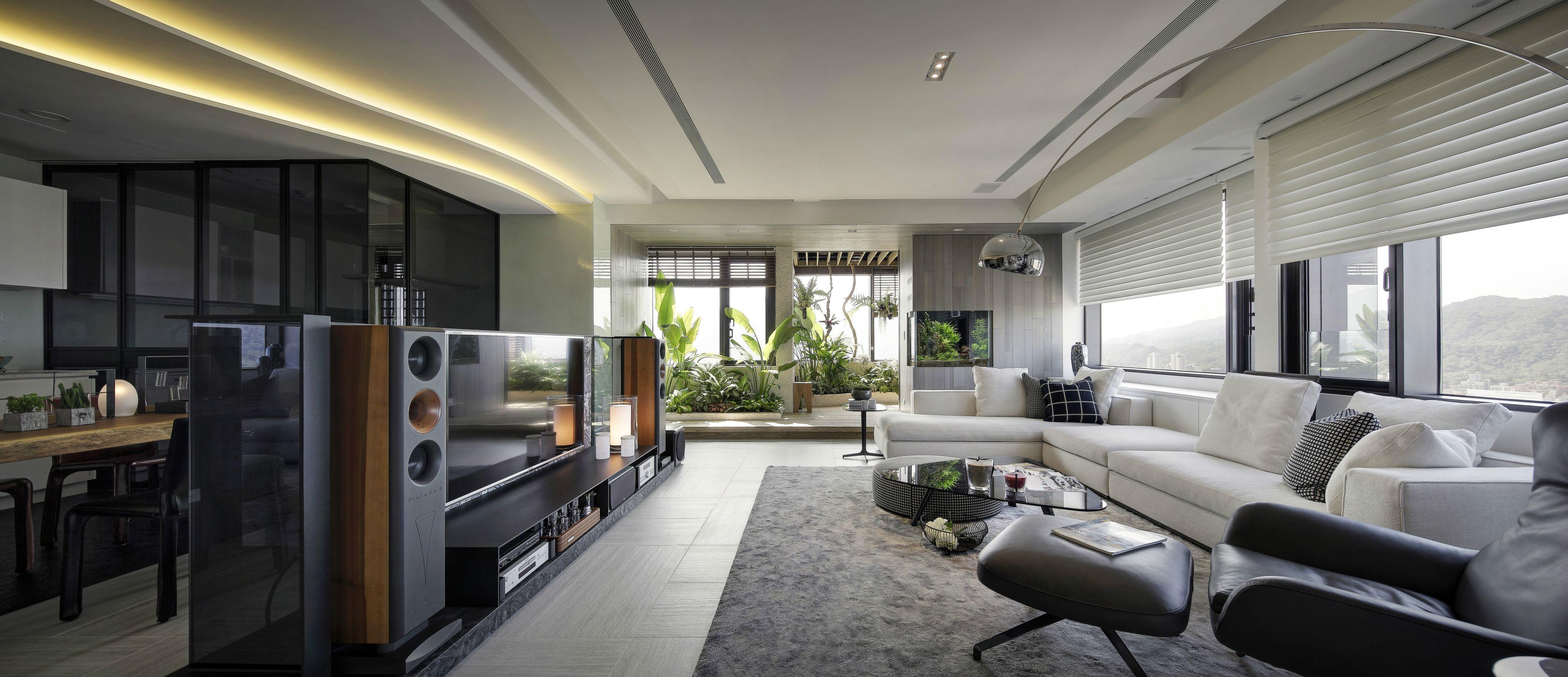 后现代风格大户型客厅装修效果图
