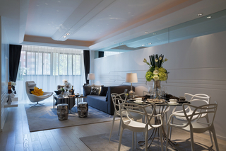 120平现代简约风客餐厅装修效果图