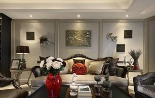 欧美风情三居沙发背景墙装修效果图