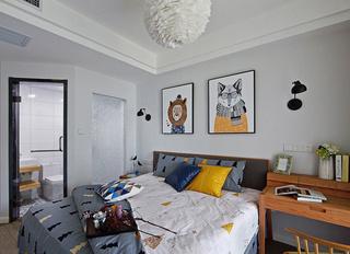 90㎡北欧风格卧室装修效果图