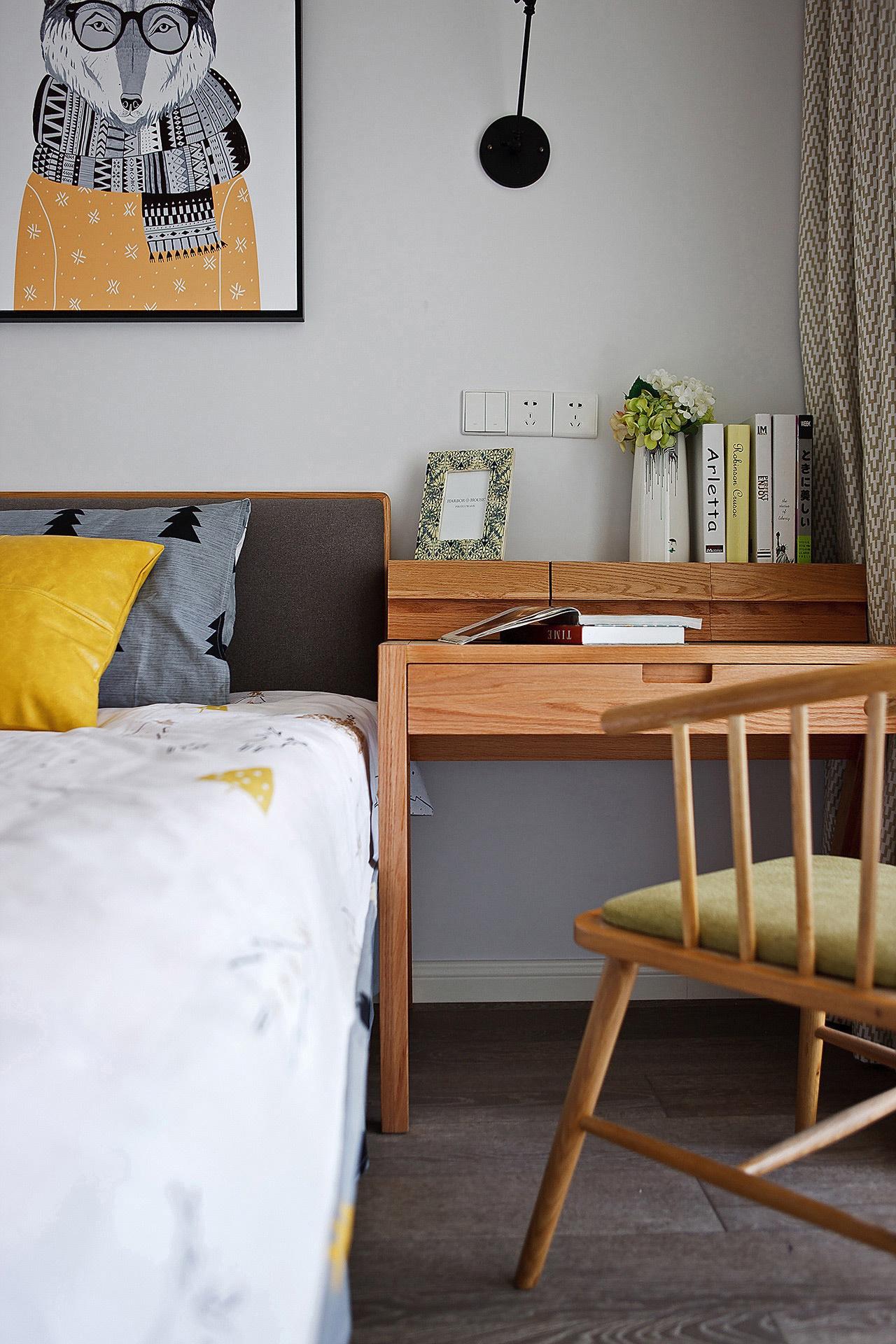 90㎡北欧风格装修书桌设计图