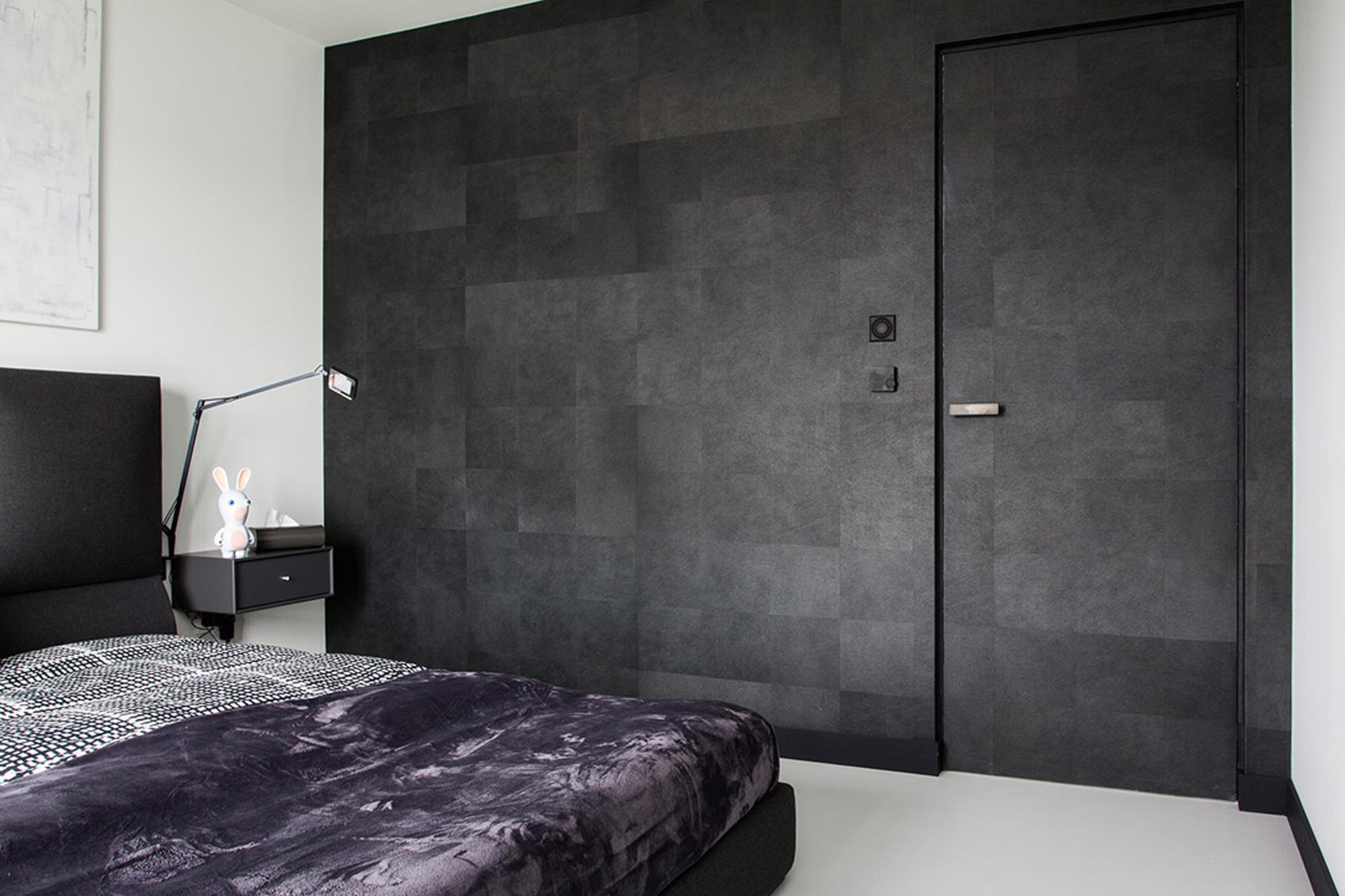 黑白简约风公寓卧室装修效果图