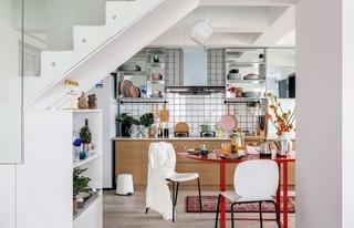 100㎡混搭风格厨房装修效果图