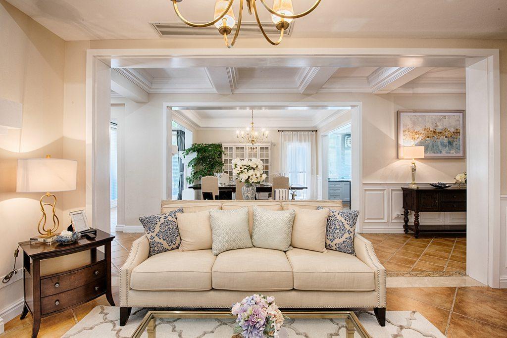 美式风格别墅装修沙发设计图