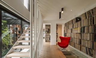 现代风格别墅书房装修效果图