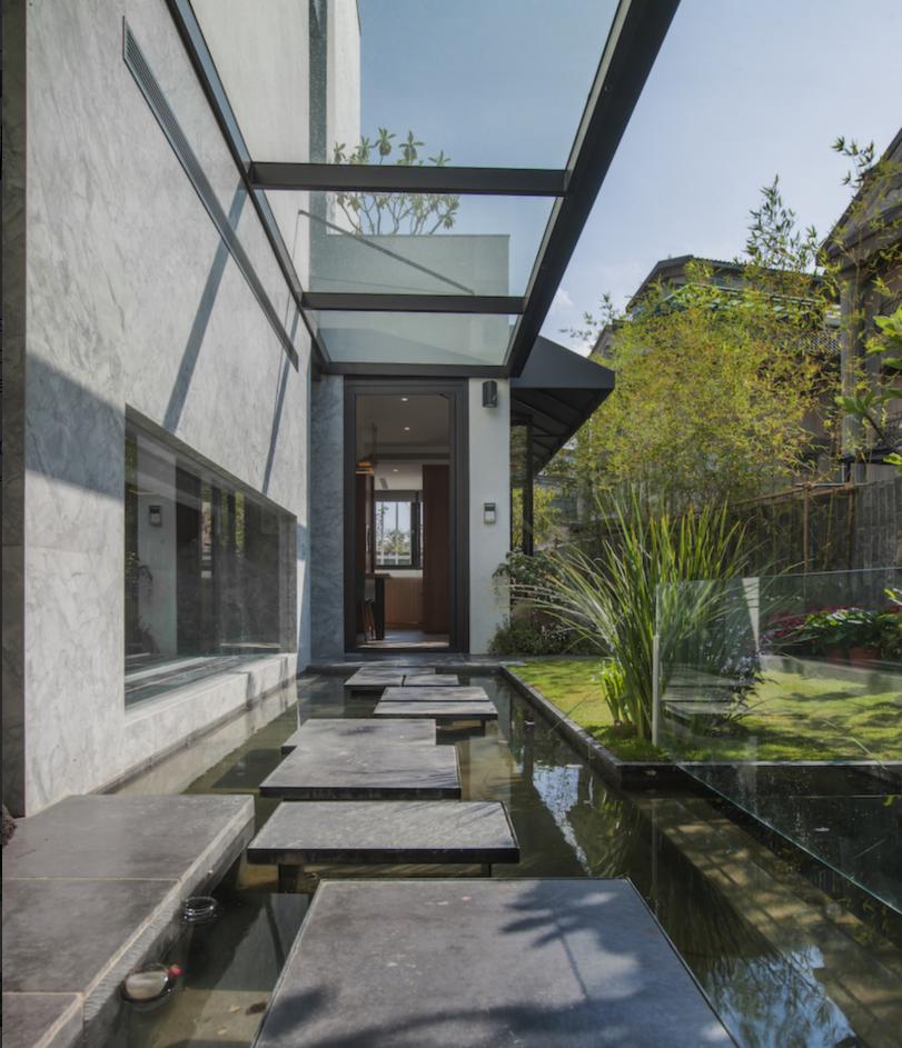 现代风格别墅庭院装修效果图