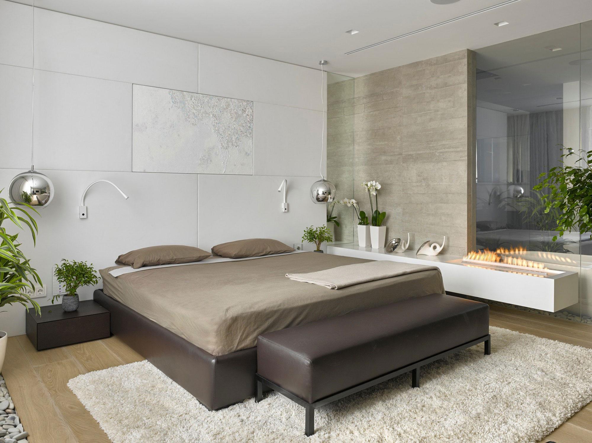 70平现代风公寓卧室装修效果图