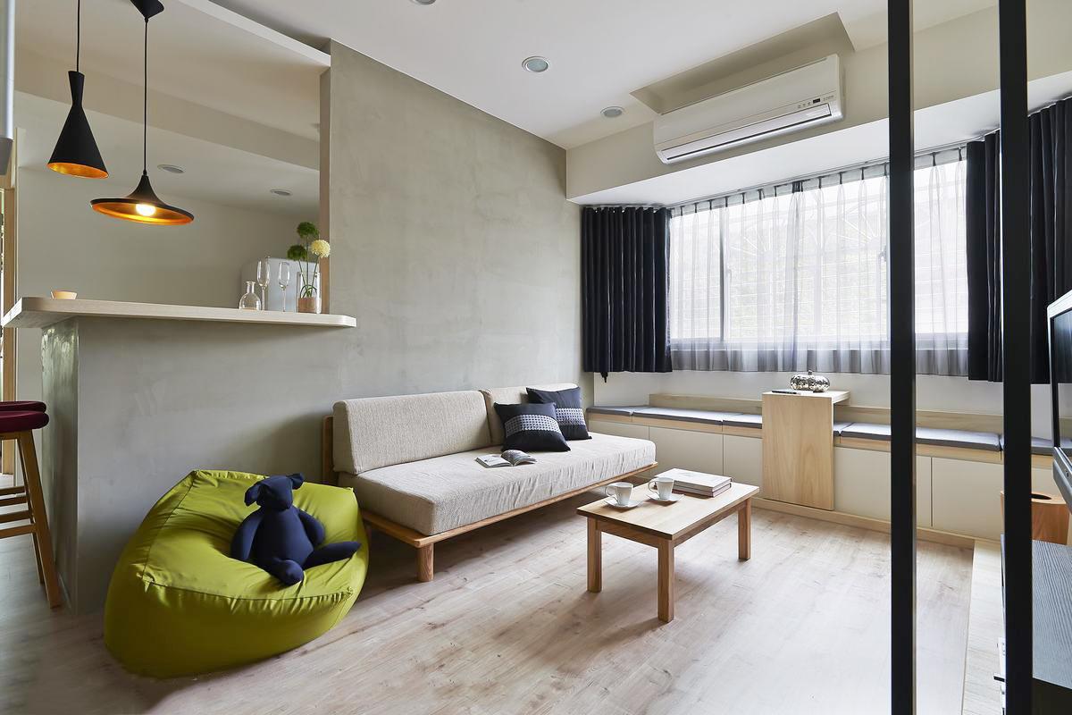 60㎡小户型沙发背景墙装修效果图