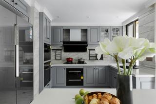 大户型美式混搭厨房装修效果图