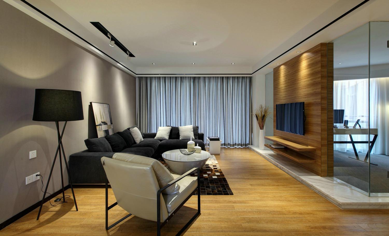 140平现代简约风格客厅装修效果图