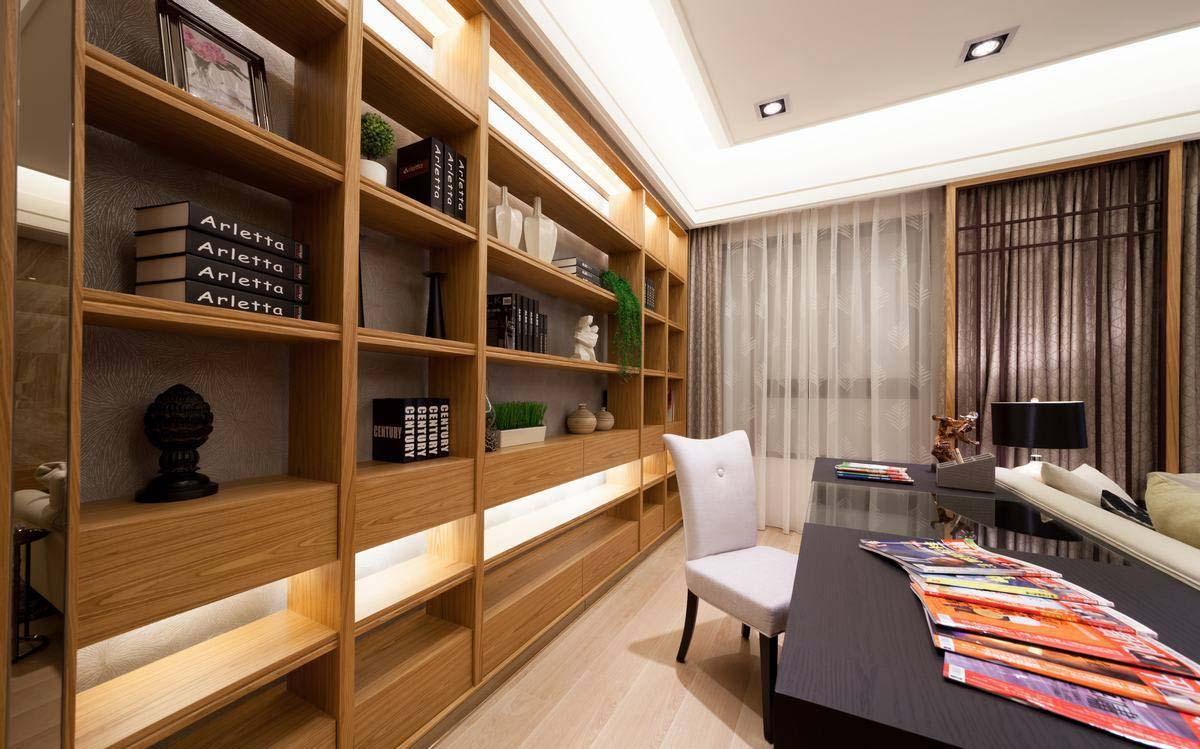 现代简约风格三居书房装修效果图