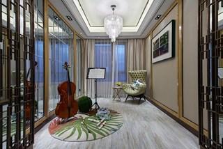 现代奢华大户型娱乐室装修效果图