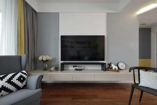 北欧风格两居室电视背景墙装修效果图