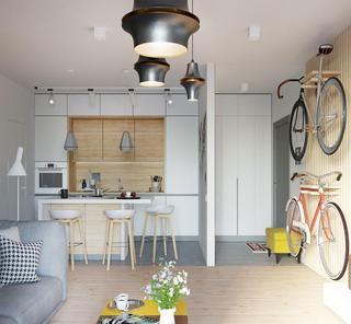 小户型北欧风公寓厨房装修效果图