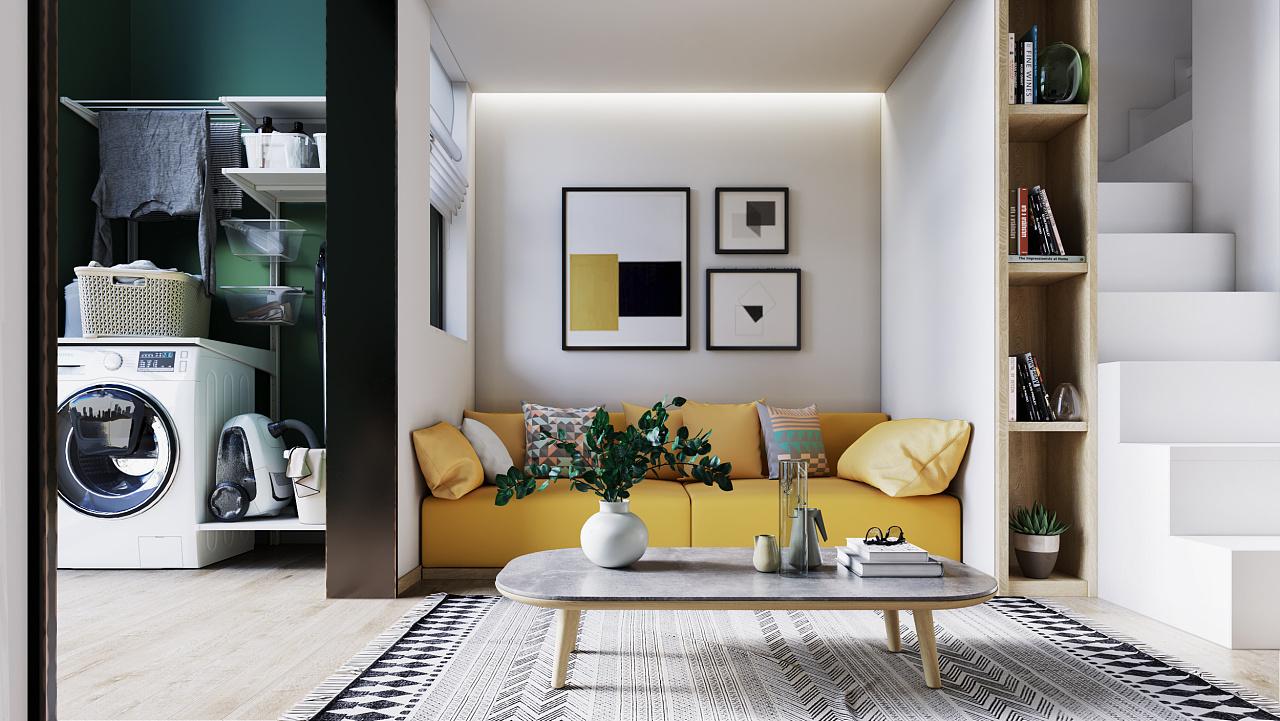 一居室小户型客厅装修效果图