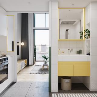 一居室小户型洗手台装修效果图