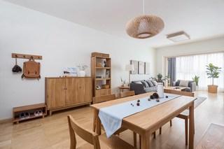 90平木质日式三居装修效果图