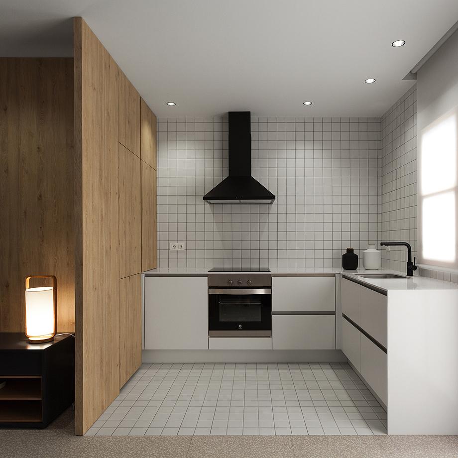 50平极简风公寓厨房装修效果图