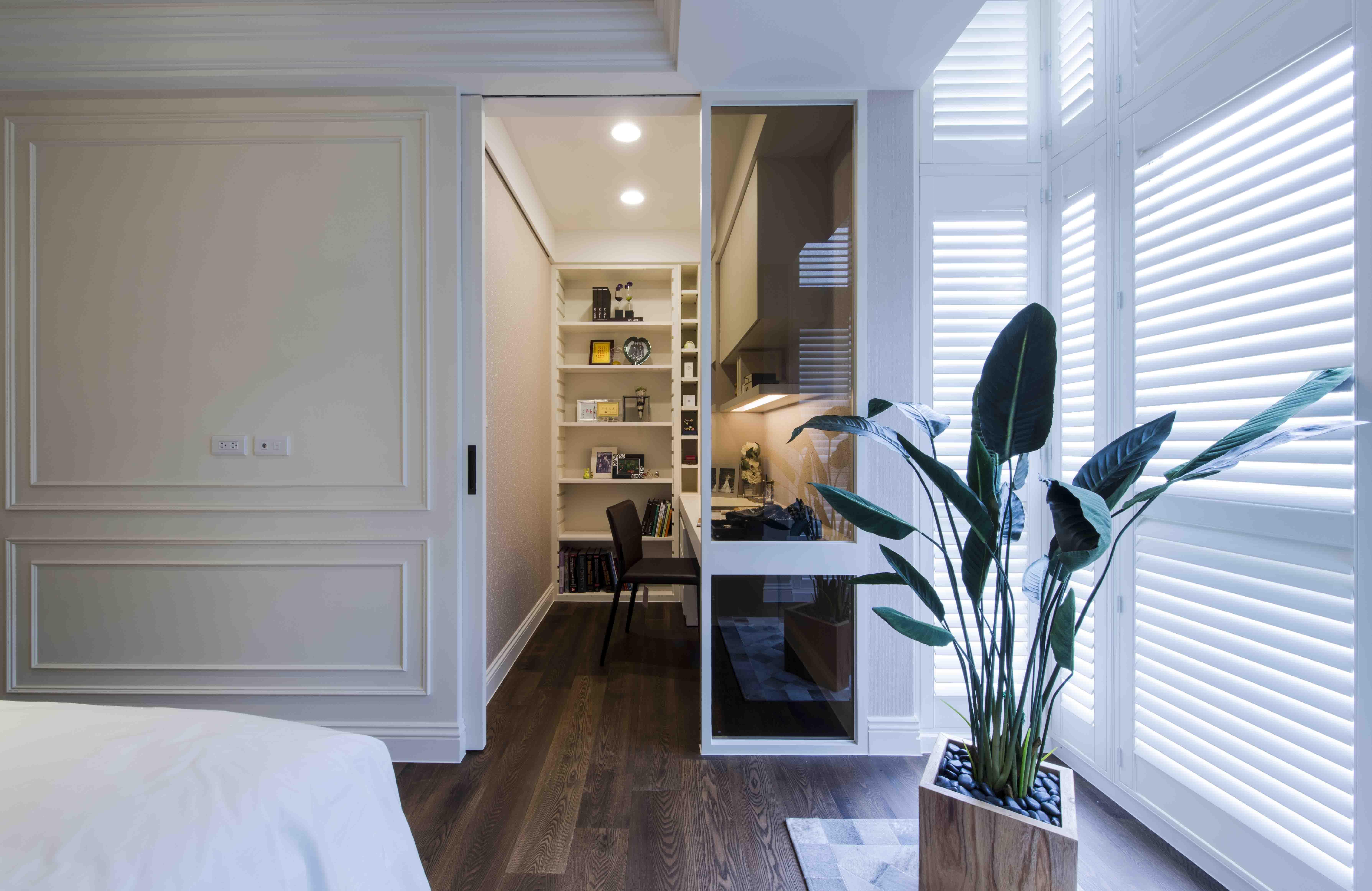 160㎡美式风格三居卧室书房装修效果图