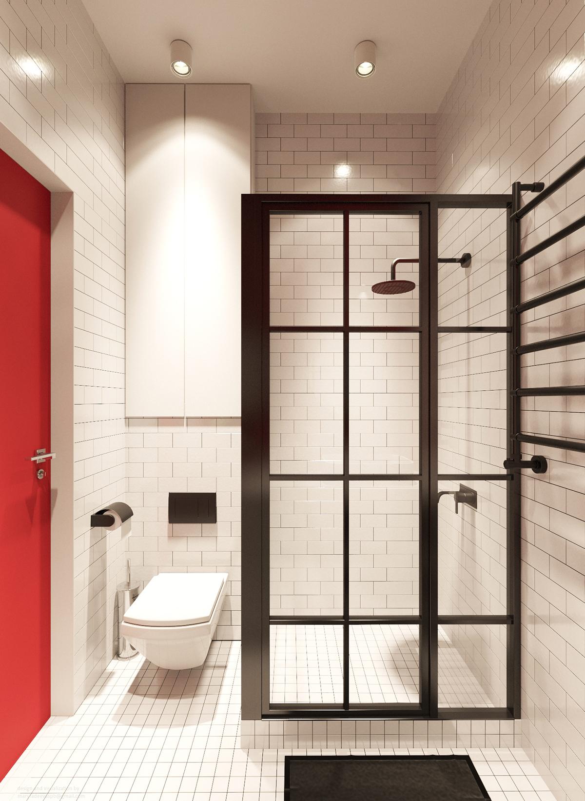 30平简约风公寓卫生间装修效果图