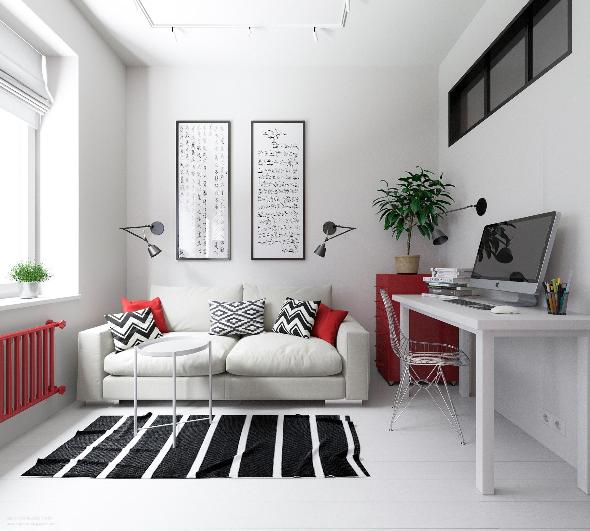30平简约风公寓客厅装修效果图