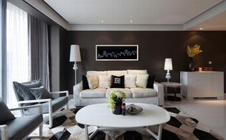 155㎡现代简约风格沙发背景墙装修效果图