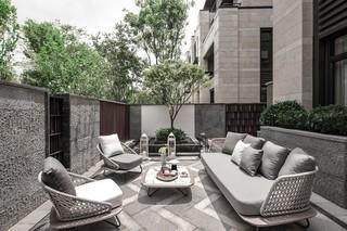 新中式风格别墅露台装修效果图