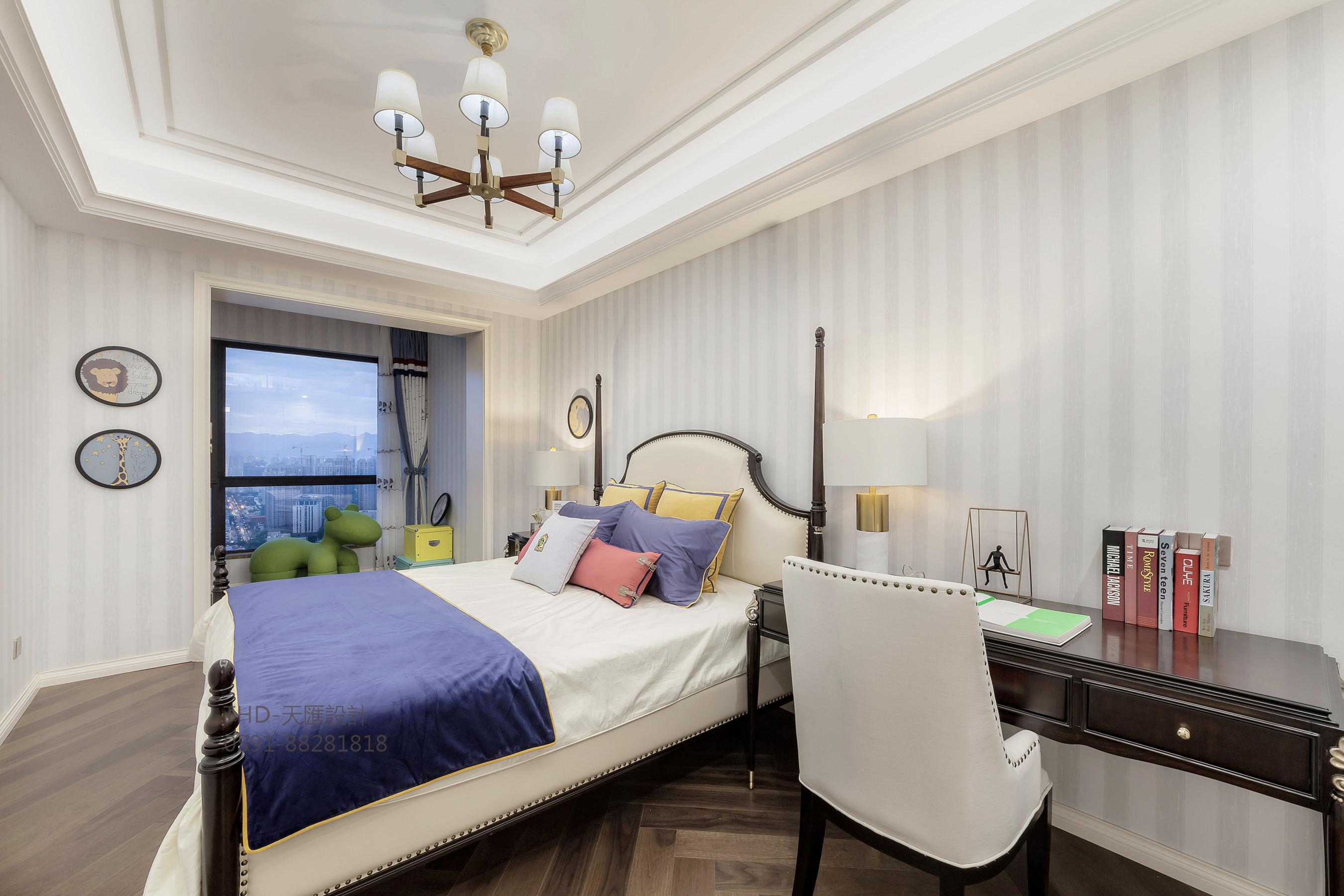 大户型轻奢法式风格卧室装修效果图