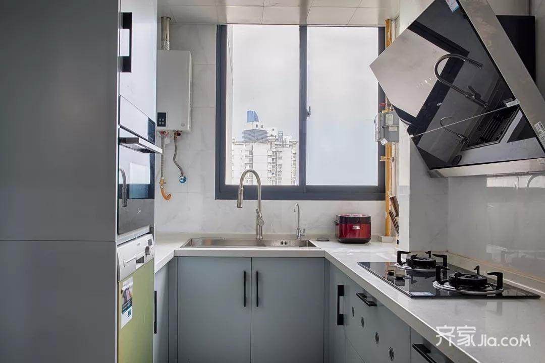 客厅飘窗贴瓷砖效果图_7.8万95平米现代三房装修效果图,95小三房简约装修案例效果图 ...