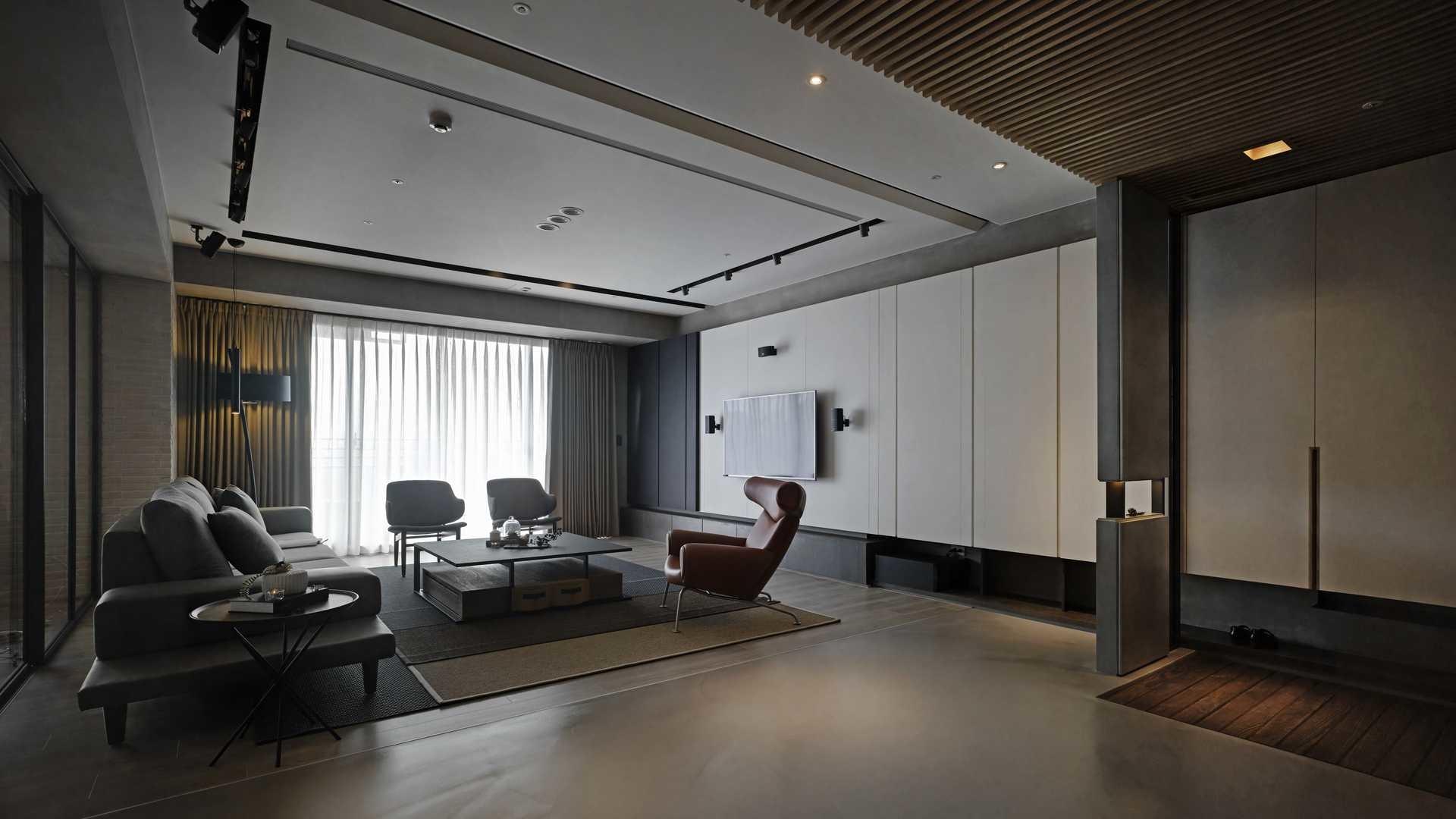 大户型现代混搭风格客厅装修效果图