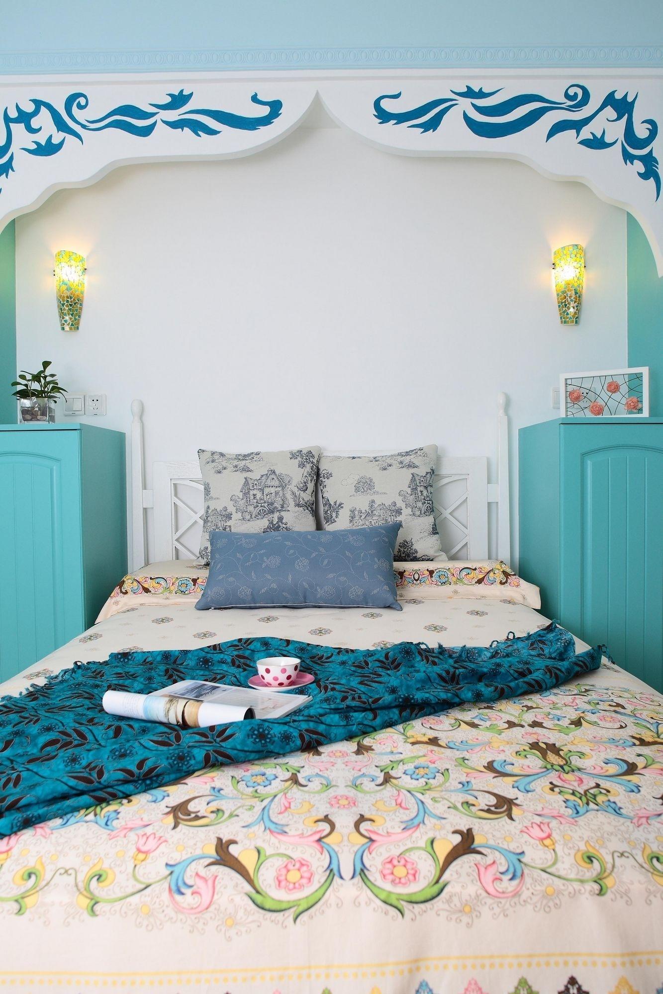 105㎡地中海风格卧室装修效果图