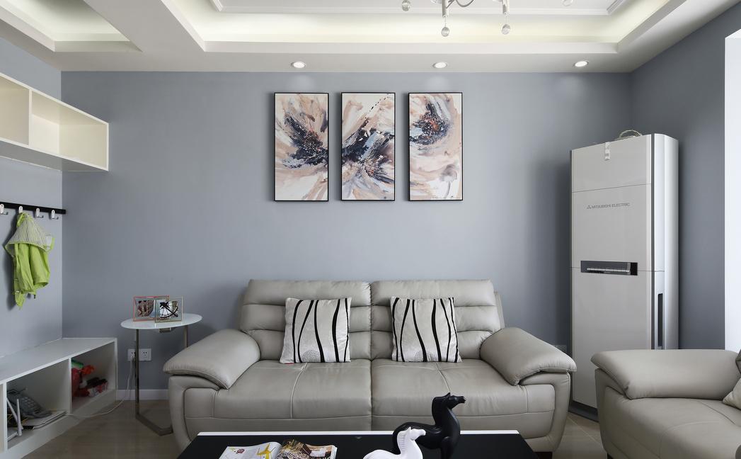 100㎡现代风格沙发背景墙装修效果图