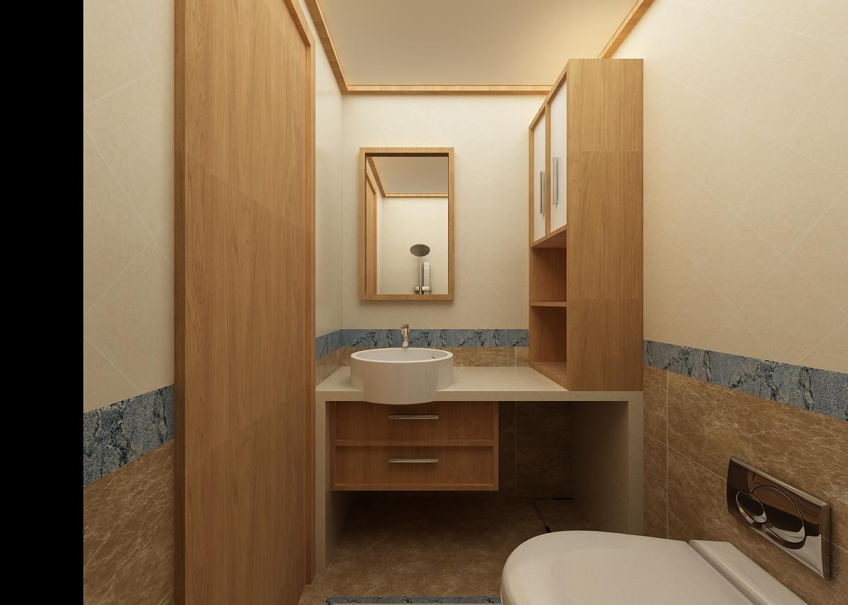 75平米日式风格卫生间装修效果图