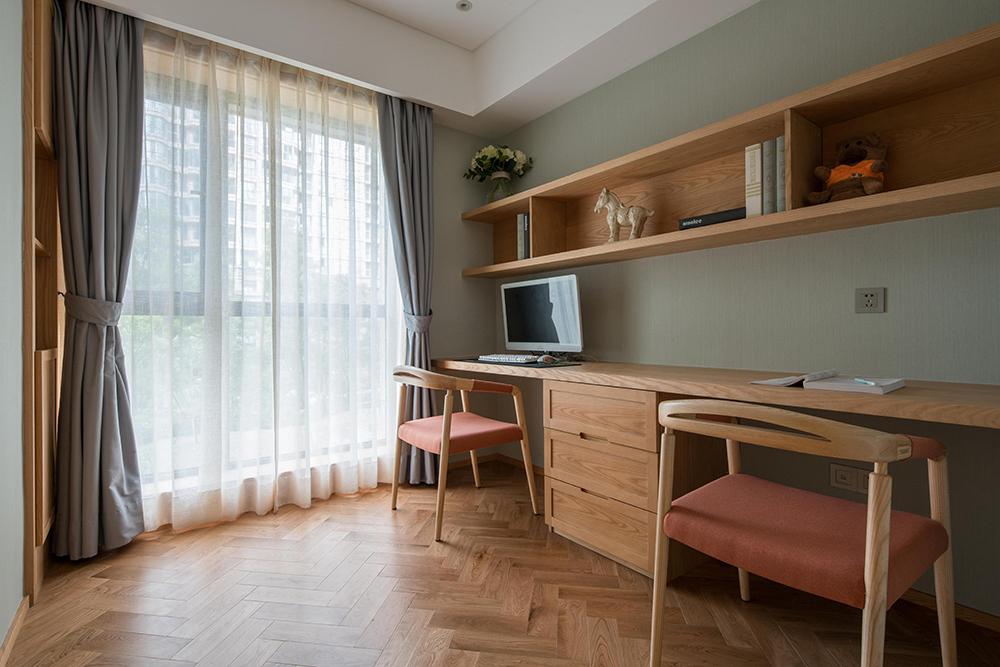 简约中式风格三居书房装修效果图