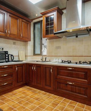 140㎡美式混搭厨房装修效果图