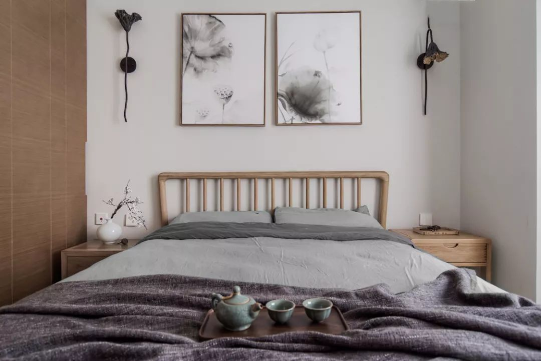 96平米新中式卧室装修效果图