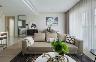 现代简约样板间装修沙发设计图