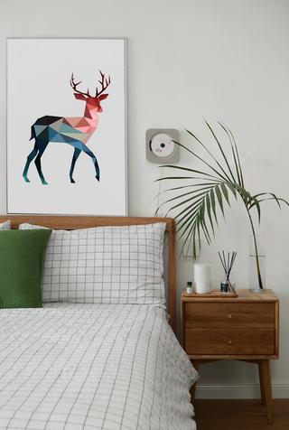复式北欧风格装修床头柜设计图