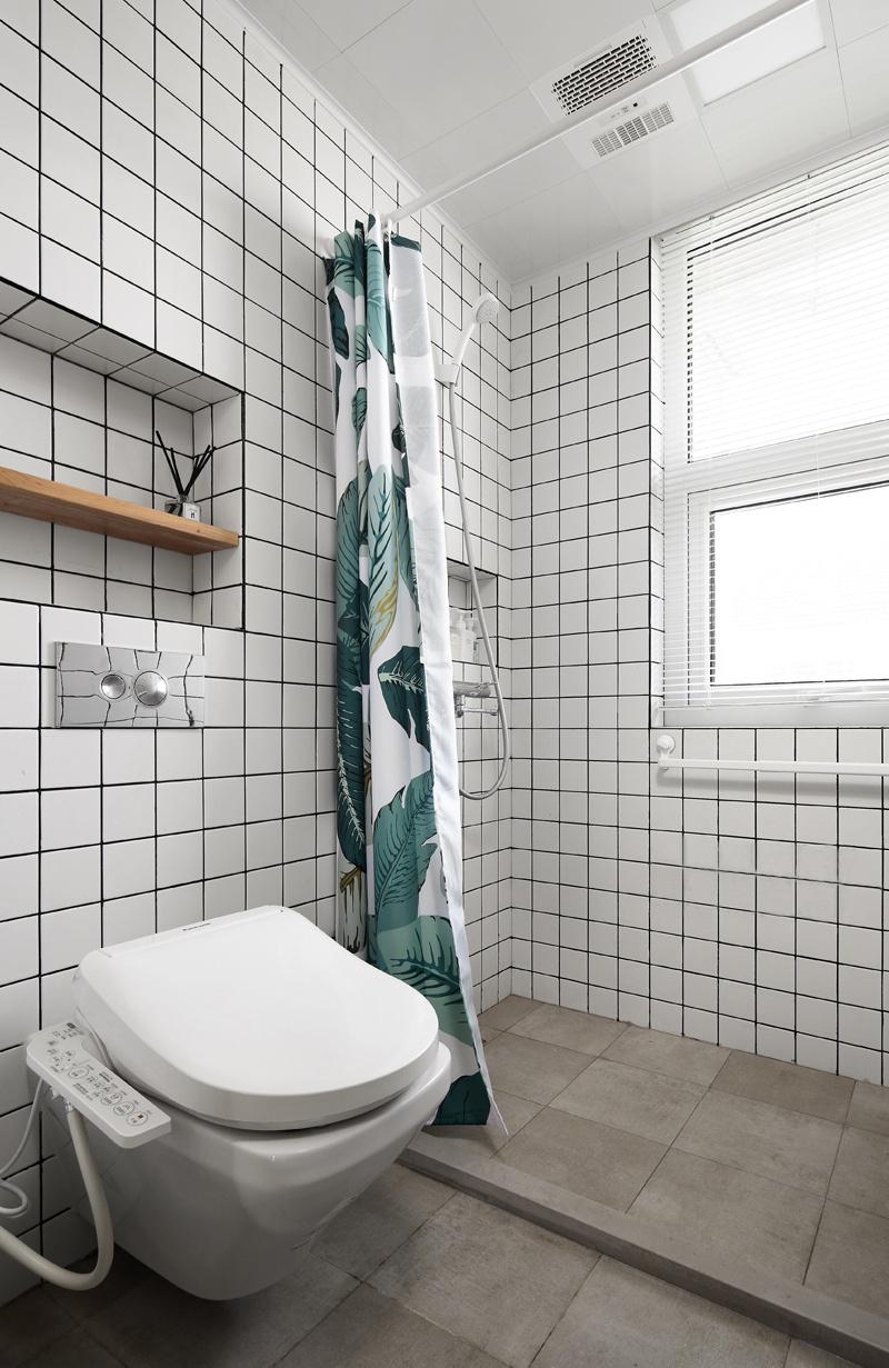 复式北欧风格淋浴房装修效果图