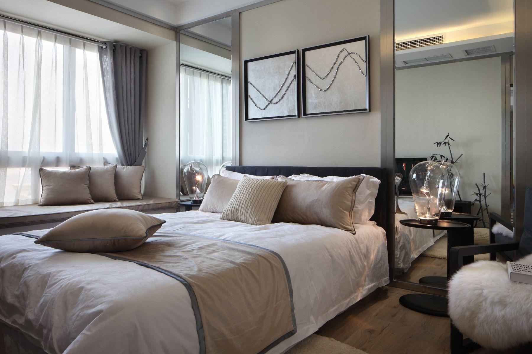 65㎡现代一居卧室装修效果图