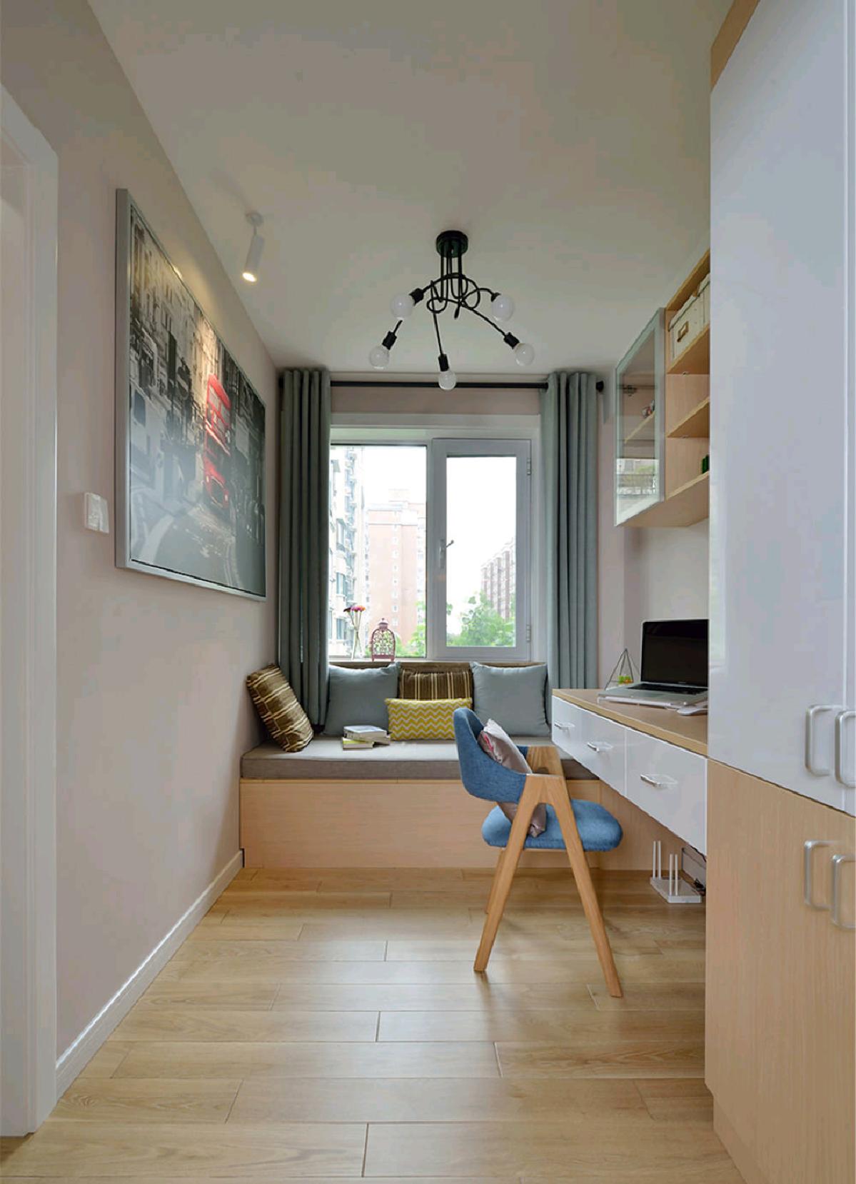 120平米三居室书房装修效果图