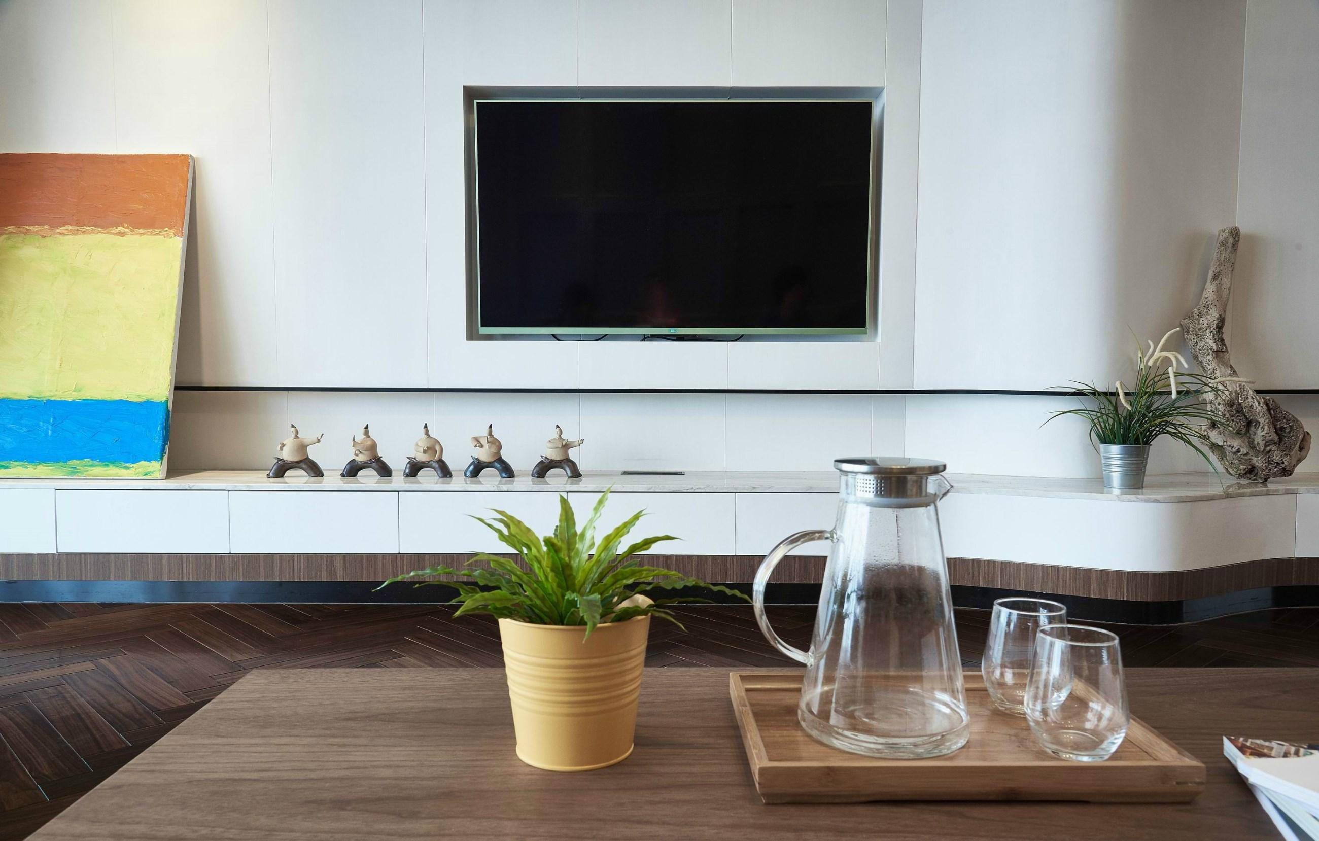 105㎡现代简约电视背景墙装修效果图