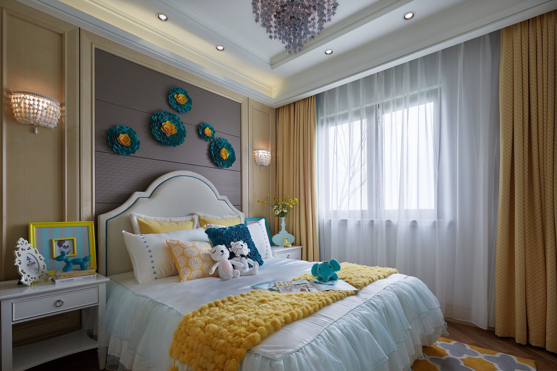 摩登时尚样板间卧室装修效果图