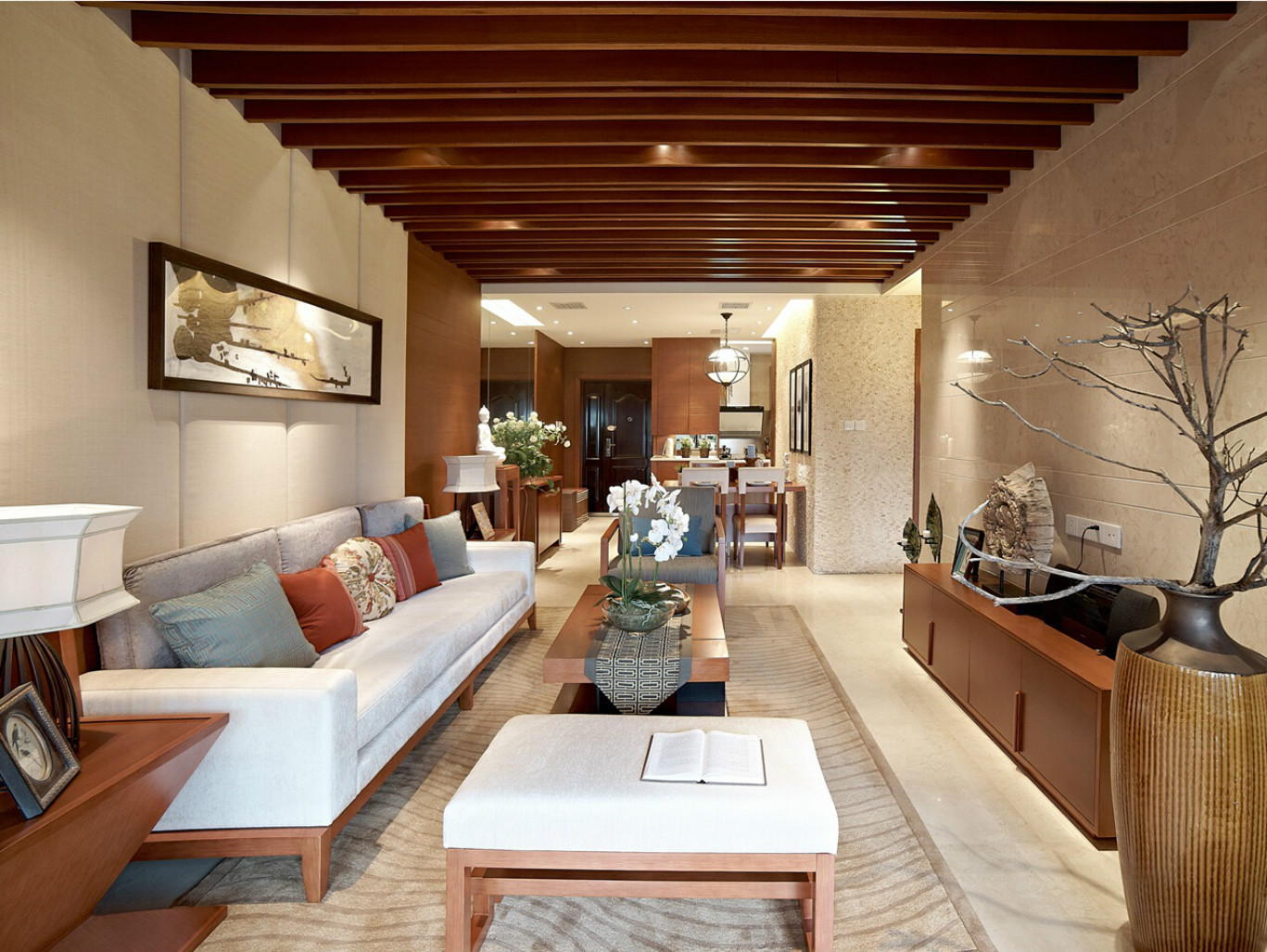 三居室东南亚风格客厅每日首存送20