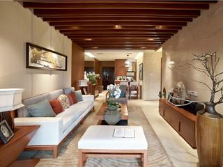 三居室东南亚风格客厅装修效果图