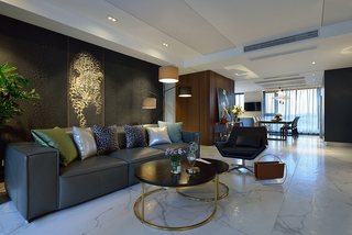 200平现代风格装修沙发布置图