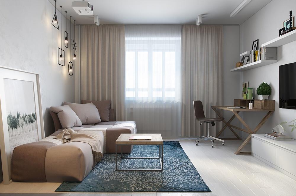 30平米公寓客厅装修效果图