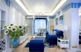 三居室地中海风格客厅每日首存送20